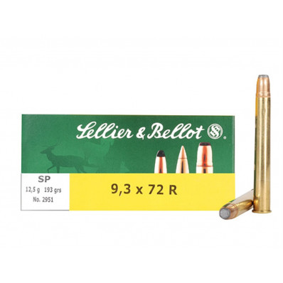 Sellier & Bellot Centerfire Rifle Ammunition 9.3x72mm 193 gr SP 1950 fps - 20/box