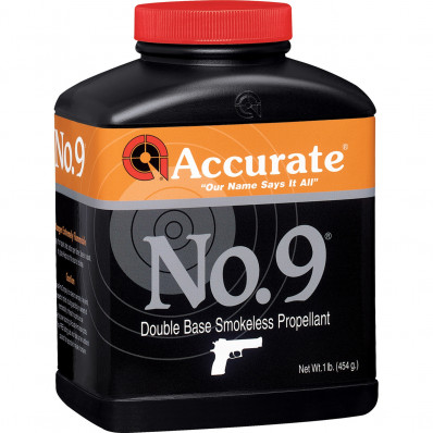 Accurate Powder No. 9 Handgun Powder 8 lbs
