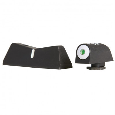 XS Sight Systems Big Dot Tritium Express Set (Front, White Stripe Rear) for Glock 17,19, 22-24, 26, 27, 31-36, 38
