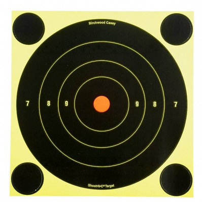 "Birchwood Casey Shoot-N-C 6"" Bulls-Eye Targets 12/pk"