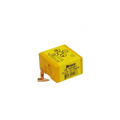 "Berger Match Target Bullets .22 cal .224"" 52 gr FB 100/ct"