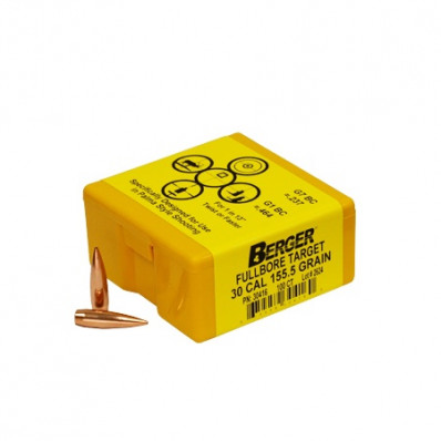 "Berger Match Grade Target Bullets .30 cal .308"" 155 1/2 gr MFT 100/box"