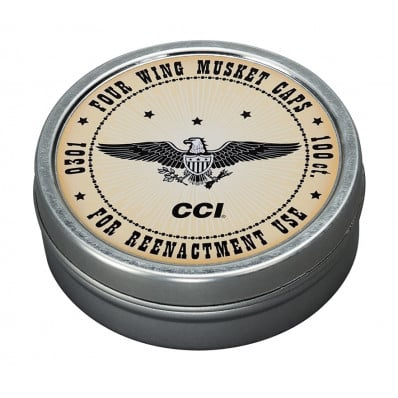 CCI 4-Wing Musket Caps (Designed for Re-enactment) 100pk