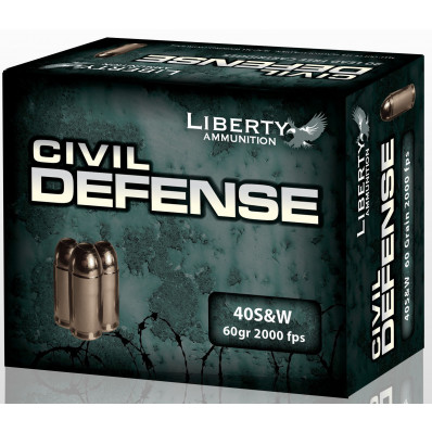 Liberty Civil Defense Handgun Ammunition .40 S&W 60 gr SCHP 2000 fps 20/ct