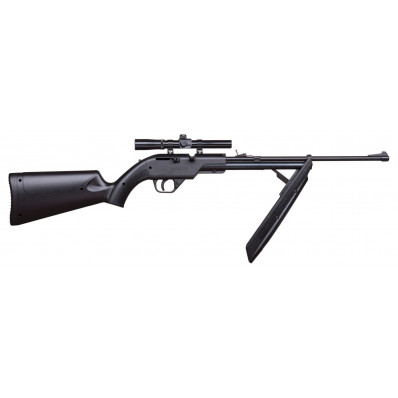 Crosman 760 Pumpmaster Bolt Action Variable Pump Rifle with 4x15 Scope .177 Cal - Black