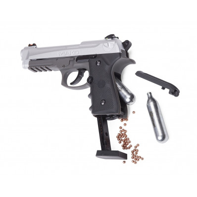 Crosman CM9B Mako - CO2 Powered, Semi Auto Blowback BB Air Pistol