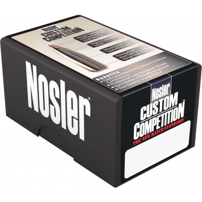 "Nosler Custom Competition Bullets .22 cal .224"" 69 gr HPBT 100/ct"