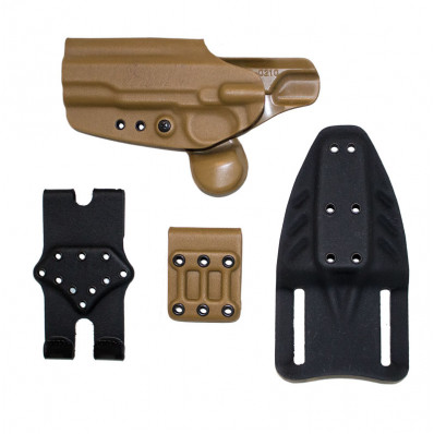 Gcode Combo Retention Holster for 1911 Compact Belt Loop & Paddle w/ Claw Left Hand Coyote Tan