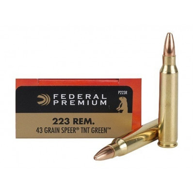 Federal Premium V-Shok Rifle Ammunition .223 Rem 43 gr TNT HP 3600 fps - 20/box