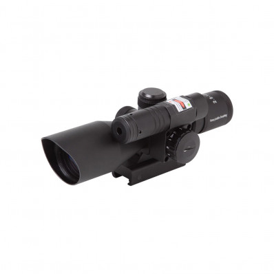"Firefield Rifle Scope with Green Laser - 2.5-10x40mm Illum. Red/Green Mil-Dot  4.1"" Matte"