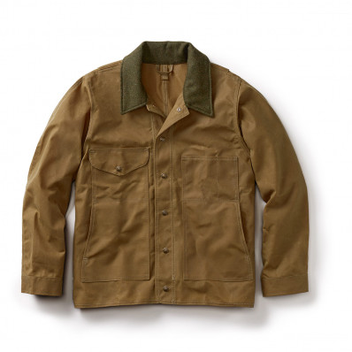 Filson Mens Tin Cloth Jacket - Alaska Fit Tan