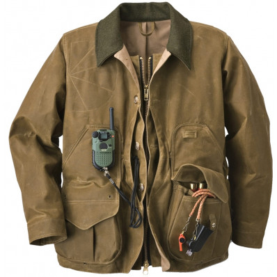 Filson Tin Cloth Field Coat with Zipper - Tan