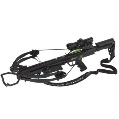 Carbon Express X-FORCE Blade Crossbow Package with 4x32mm Scope & Rope Cocker - Black