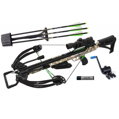 Carbon Express PileDriver 390 Crossbow Package with Crank Device & 4x32mm Scope - Camo