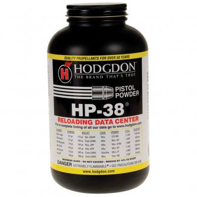 Hodgdon HP-38 Spherical Handgun Powder 1 lbs