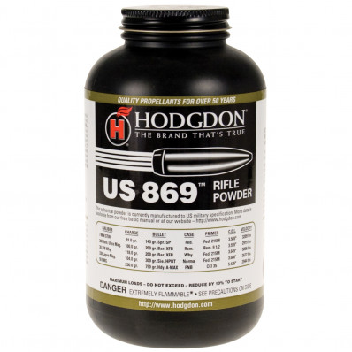 Hodgdon US 869 Spherical Rifle Powder 8 lbs