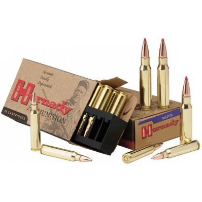 Hornady Match Rifle Ammunition .308 Win 178 gr BTHP Match 20/Box
