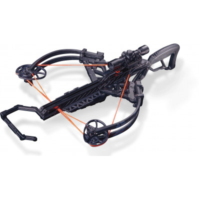 Bear Archery Bruzer FFL Crossbow Package with Trophy Ridge XF25 Scope & Cocking Sled - Black