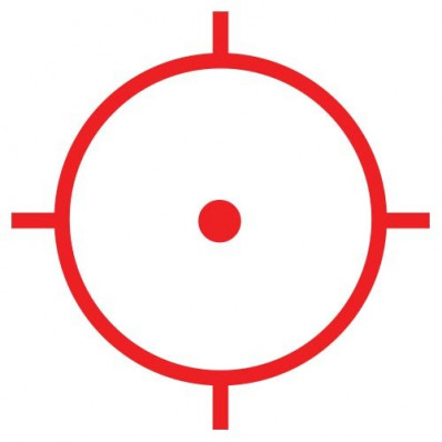 65 MOA Circle Dot Crosshair Reticle