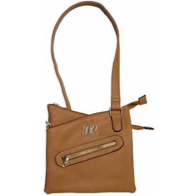 Bulldog Cross Body Style Conceal Carry Purse W/ Holster - Tan
