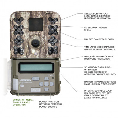 Moultrie M-40 Infrared LED Flash Game Camera - 16MP