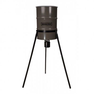 Moultrie 55 Gallon Pro Hunter Tripod Metal Deer Feeder With Quick Lock Adapter