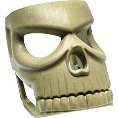 The Mako Group Fab Defense Decorative Insert for Mojo Magwell Grip - Havoc Skull - Flat Dark Earth