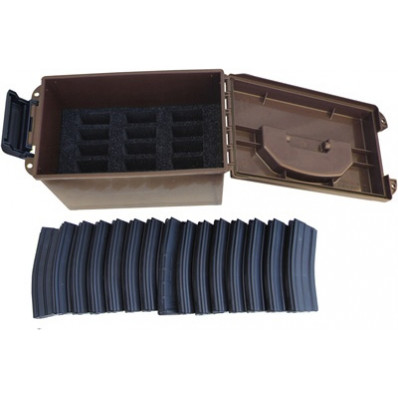 MTM Tactical Mag Can Fits 15 .223/5.56 Magazines - Dark Earth