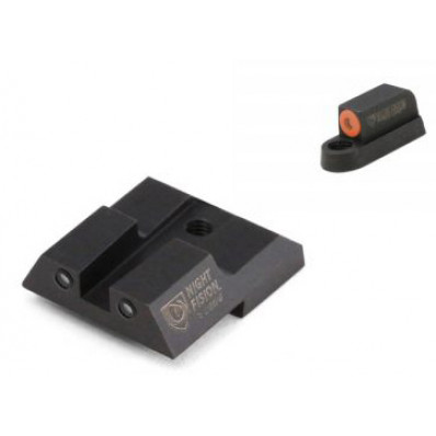 Night Fision Perfect Dot NS Set w/Orange Front + Square Blk Rear for CZ-USA P-07 & P-09