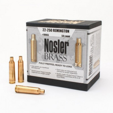Nosler Unprimed Brass Rifle Cartridge Cases 50/ct .22-250 Rem