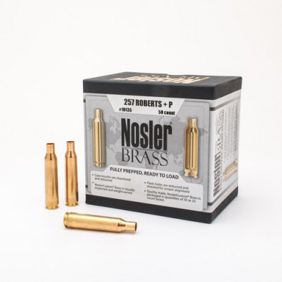 Nosler Unprimed Brass Rifle Cartridge Cases 50/ct .257 Roberts (+P)