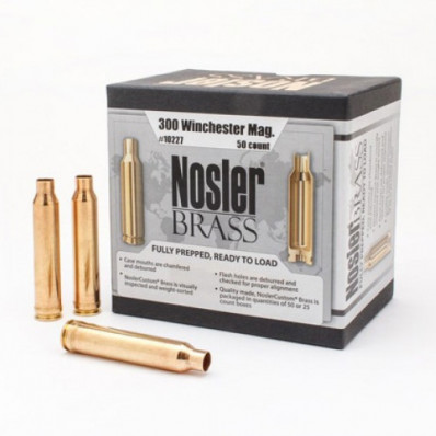 Nosler Unprimed Brass Rifle Cartridge Cases 50/ct .300 Win Mag