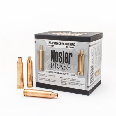 Nosler Unprimed Brass Rifle Cartridge Cases 50/ct .264 Win Mag