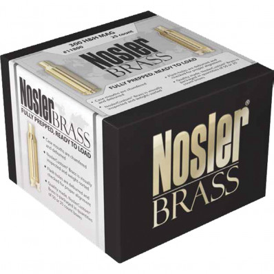 Nosler Unprimed Brass Rifle Cartridge Cases 25/ct .300 H&H