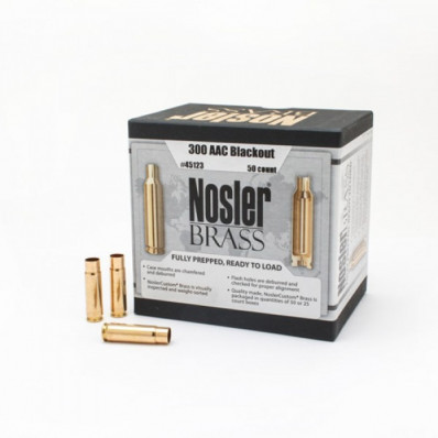 Nosler Unprimed Brass Rifle Cartridge Cases 50/ct .300 AAC Blackout