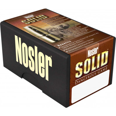 "Nosler Solid Dangerous Game Bullets .458 cal .458"" 500 gr FPSD 25/ct"