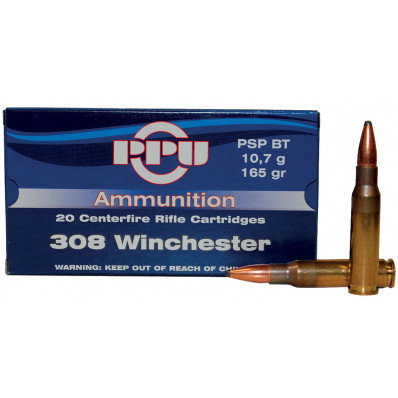 PPU Rifle Ammunition .308 Win 165 gr PSPBT 2675 fps - 20/box