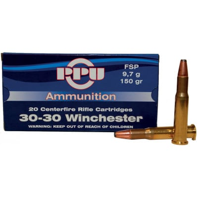 PPU Rifle Ammunition .30-30 Win 150 gr FNSP 2300 fps - 20/box