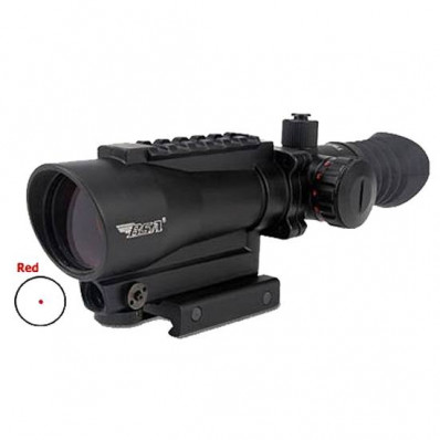 BSA Tactical Red Dot Sight with Laser- 1x30mm 5 MOA Red Dot - Matte