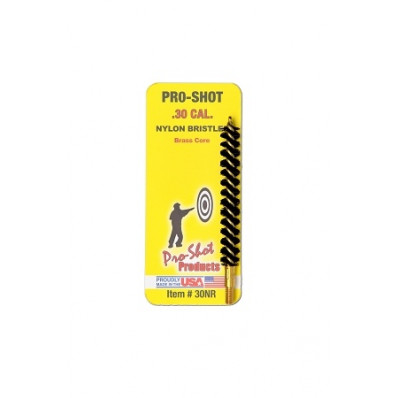 Pro-Shot Nylon Rifle Bore Brush with Brass Core .30 cal