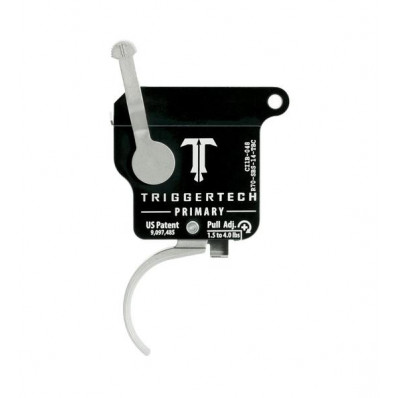TriggerTech Rem 700 Primary Curved Trigger Single Stage Stainless Steel/Black