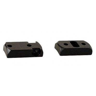 Redfield 2-Piece Steel Rotary Dovetail Scope Base REM 700, MOSS PATRIOT, HOWA 1500 - Matte Blac
