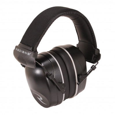 Radians Full Size Folding Slim Cup Ear Muff NRR 34 with 2 Pr. Free Ear Plugs