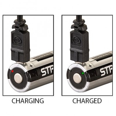 Streamlight 18650 USB Rechargeable Lithium Ion Battery with Integrated Micro-USB Charge Port - 2/pk