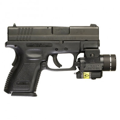 Streamlight TLR-4 Compact Rail Mounted Tactical Light with Integrated Red Aiming Laser