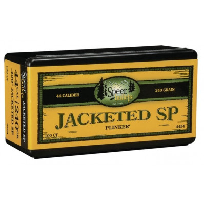"Speer Jacketed Handgun Bullets .44 cal .429"" 240 gr JSP 100/ct"