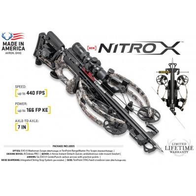Tenpoint Nitro X Crossbow Package with Tenpoint Rangemater Pro Scope & ACUdraw PRO Cocking Device - Timber Viper