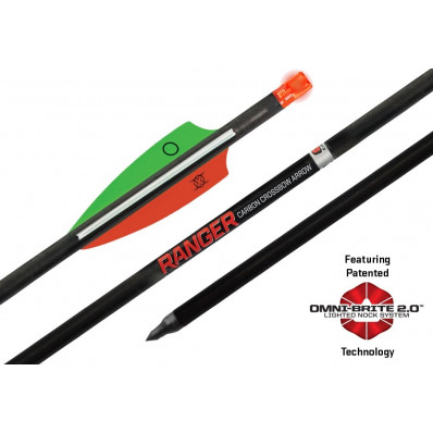 "Wicked Ridge Omni-Brite 2.0 Lighted Ranger Carbon Arrows 18"" 367gr 3/pk"