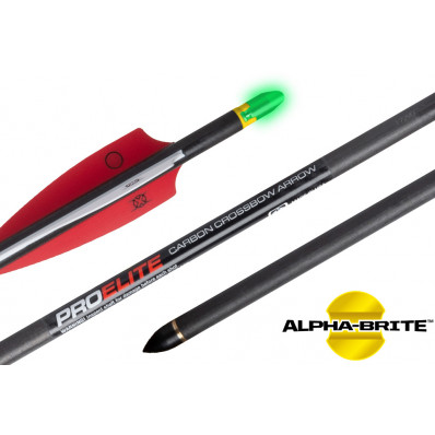 "Ten Point Pro Elite Alpha-Brite Carbon Arrows 20"" with Molded ALPHA Brite Nocks 6/pk"