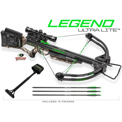 Horton Legend Ultra Lite Crossbow Package with 4x32 Multi-Line Scope / 3 Carbon Arrows / Quiver / AcuDraw 50